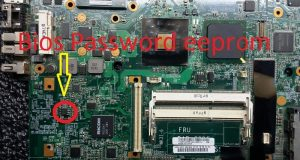 ocation of IBM Lenovo ThinkPad R500 password eeprom ic